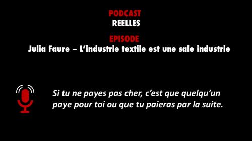 meilleur épisode podcast - Réelles - Julia Faure - PODCASTZAP