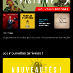 Suggestions d'application pour trouver des podcasts