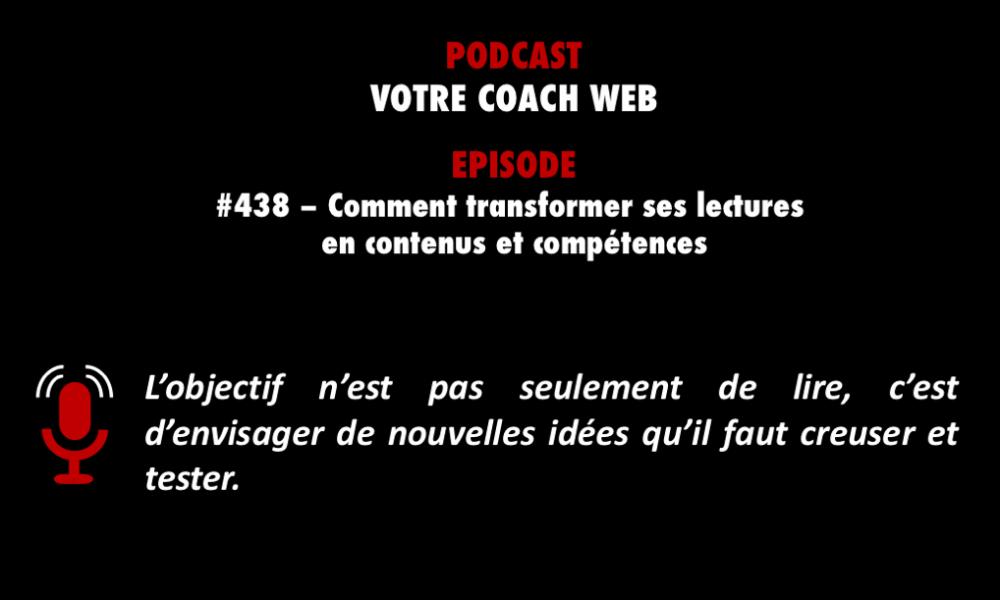 Podcastzap vous recommande Votre coach web